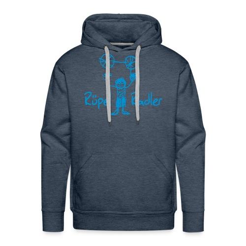 Rüpel-Radler blau  - Männer Premium Hoodie