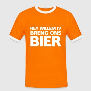 Hey Willem Vier, breng ons bier! T-shirts - Mannen contrastshirt