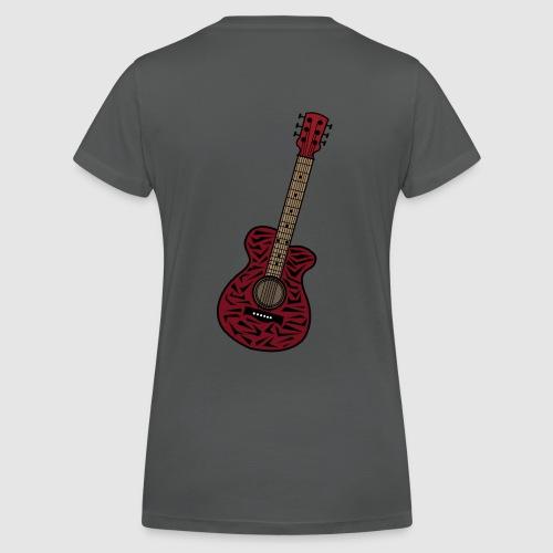 Frauen Bio-T-Shirt mit V-Ausschnitt von Stanley & Stella - unschwer zu erkenn ist dies eine gitarre im zebra look