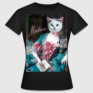 Katze Cat Madame Dame Lady Queen Königin Infanta  - Frauen T-Shirt