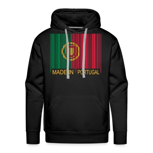 Code barre Made in PORTUGAL - Sweat-shirt à capuche Premium pour hommes