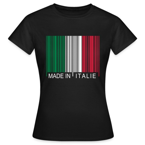 Code barre Made in ITALIE - T-shirt Femme