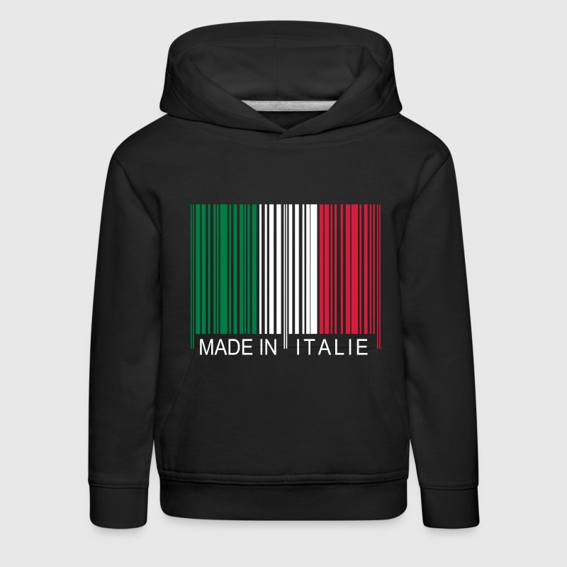 Code barre Made in Italie Sweats - Pull à capuche Premium Enfant