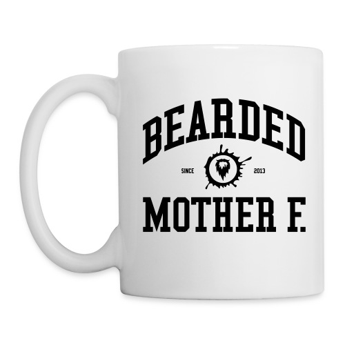 Bearded Mother F. - All White Coffee Mug - Mok