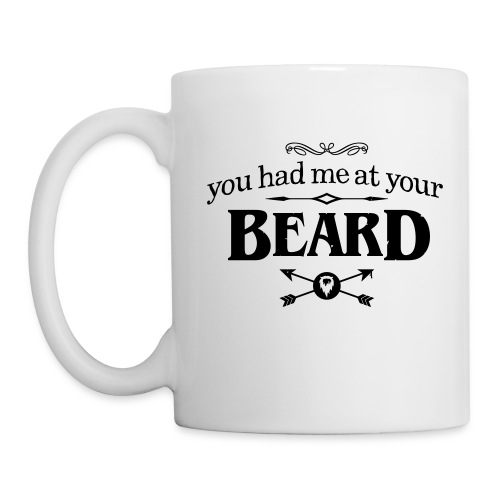 You had me at your beard - All White Coffee Mug - Mok