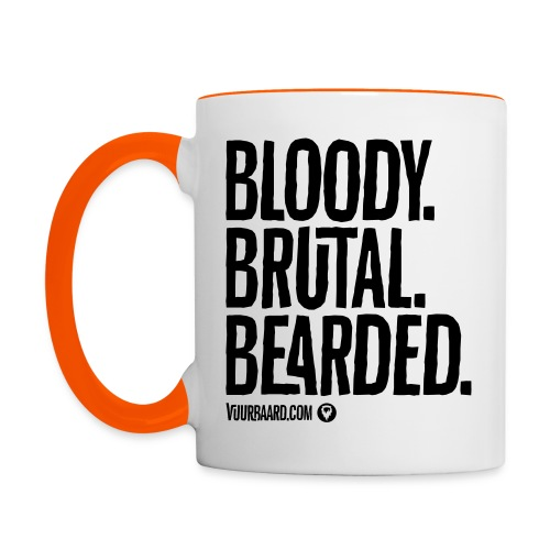 Bloody. Brutal. Bearded. - Multi-color Coffee Mug - Mok tweekleurig