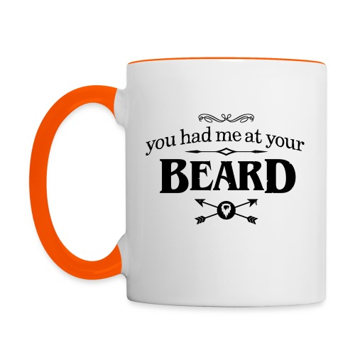 You had me at your beard - Multi-color Coffee Mug - Mok tweekleurig