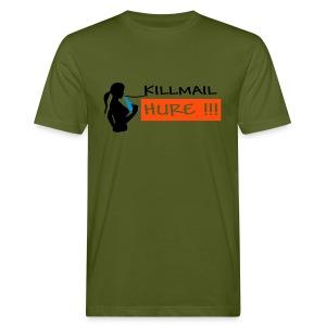 Killmail Hure, schwarz-blau-orange - Männer Bio-T-Shirt