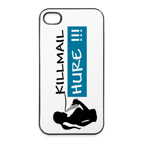Killmail Hure, schwarz-petrol-grau - iPhone 4/4s Hard Case