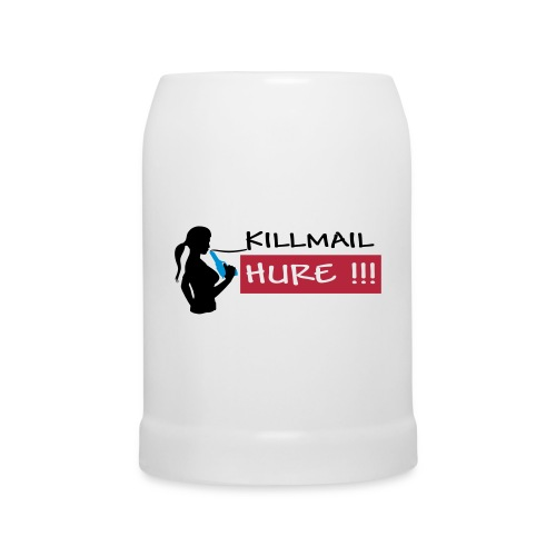 Killmail Hure, schwarz-rot-blau - Bierkrug