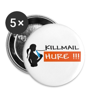 Killmail Hure, schwarz-orange-blau - Buttons klein 25 mm