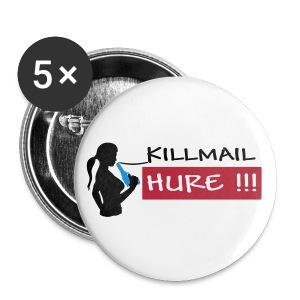 Killmail Hure, schwarz-rot-blau - Buttons groß 56 mm