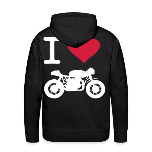 I Love Cafe Racers Hoodie Unisex - Men's Premium Hoodie