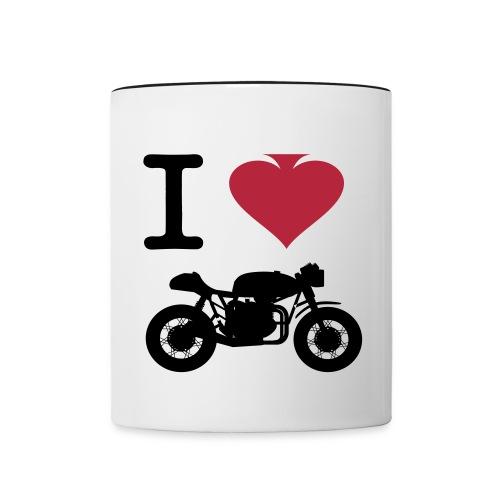 I Love Cafe Racer Cup  - Contrasting Mug