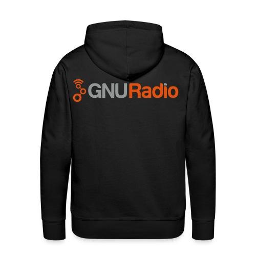 The GNU Radio Hoodie (Black, Flock) - Männer Premium Hoodie