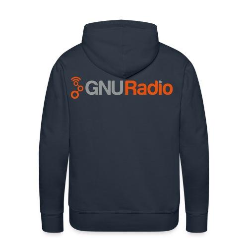 The GNU Radio Hoodie (Navy, Flock) - Männer Premium Hoodie