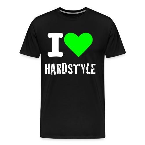 I Love Hardstyle Neon-Green - Männer Premium T-Shirt