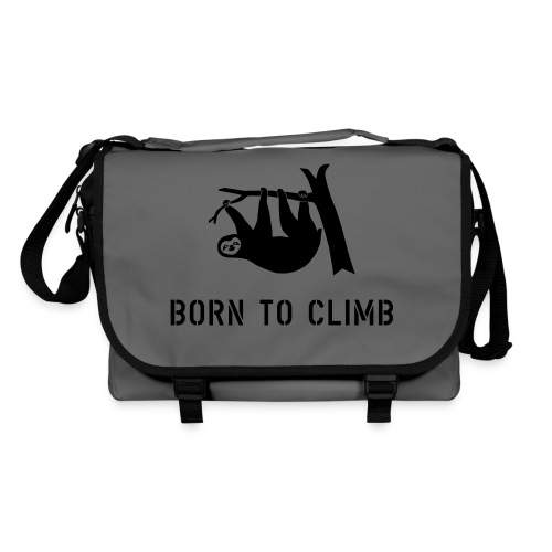 klettern climbing born to climb faultier bouldern t-shirt - Umhängetasche