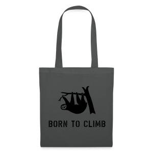 klettern climbing born to climb faultier bouldern t-shirt - Stoffbeutel