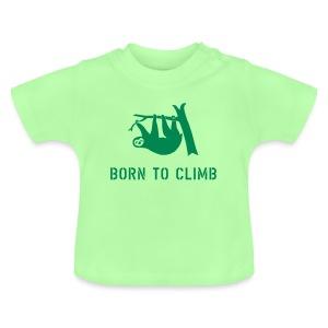 klettern climbing born to climb faultier bouldern t-shirt - Baby T-Shirt