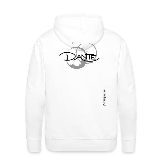 DANTE Men Hoodie NOVEMBER RED white