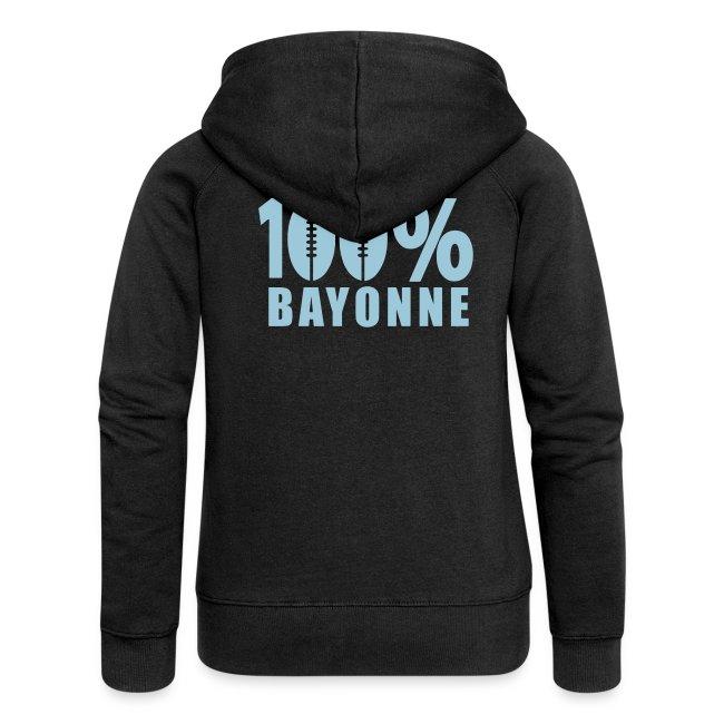 Rugby Capuche Basque Bayonne Premium Yod Veste À Femme 100 Ballon qx1PB4Bfw