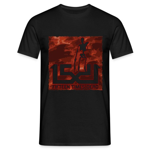 15 Times Dead Lava Logo - Men's T-Shirt