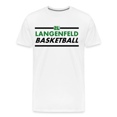 Langenfeld Basketball (Man / White / T-Shirt) - Männer Premium T-Shirt