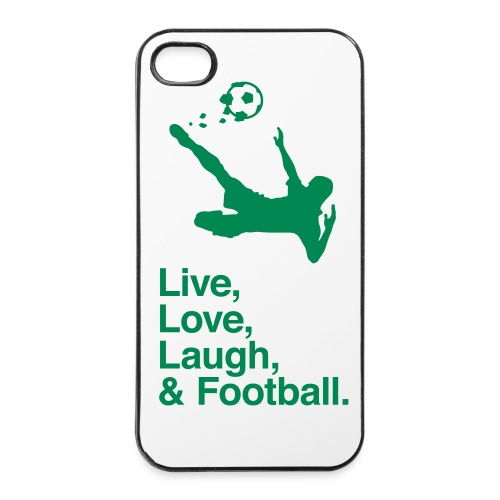 Cover iPhone 4/4S - Live, Love, Laugh & Football - Custodia rigida per iPhone 4/4s