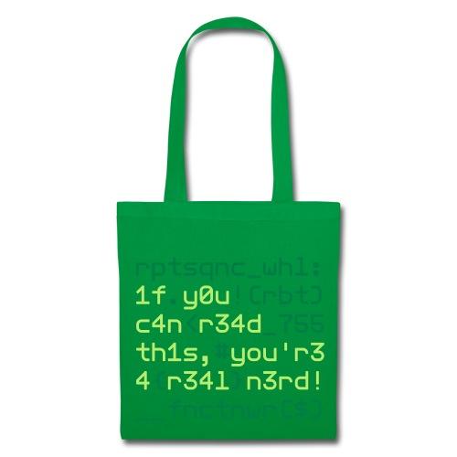 Coders Choice: Leetspeak NERD Bag 1f y0u c4n - Tote Bag