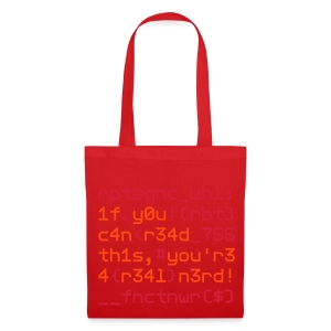 Coders Choice: Leetspeak NERD Bag 1f y0u c4n - Tote Bag