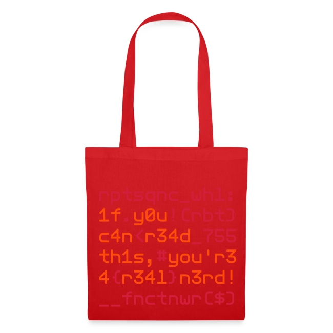 "Coders Choice: Leetspeak NERD Bag ""1f y0u c4n"""