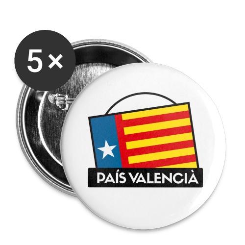 Xapa Estrelada País Valencià - Chapa grande 56 mm