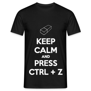 Keep Calm And Press CTRL+Z - T-shirt Homme