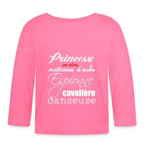 T-shirt manches longues bébé - princesse ou alors - T-shirt manches longues Bébé