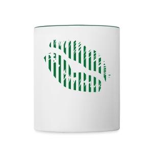 SCR - Grün/Weisse Lippen - Tasse zweifarbig