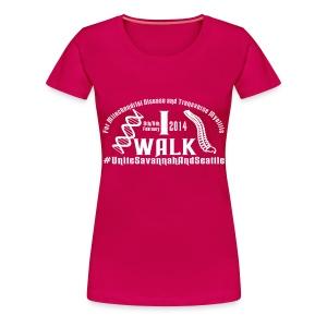 I Walk dates - Women's Premium T-Shirt