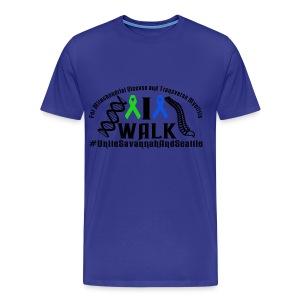 I Walk Ribbons - Men's Premium T-Shirt
