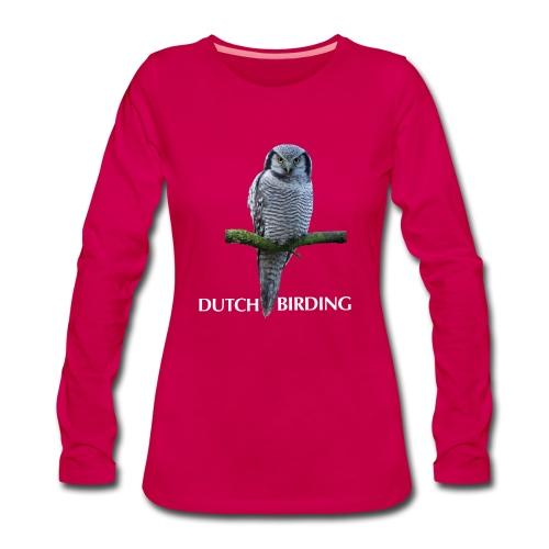 Sperweruil Premium Longsleeve vrouw - Vrouwen Premium shirt met lange mouwen
