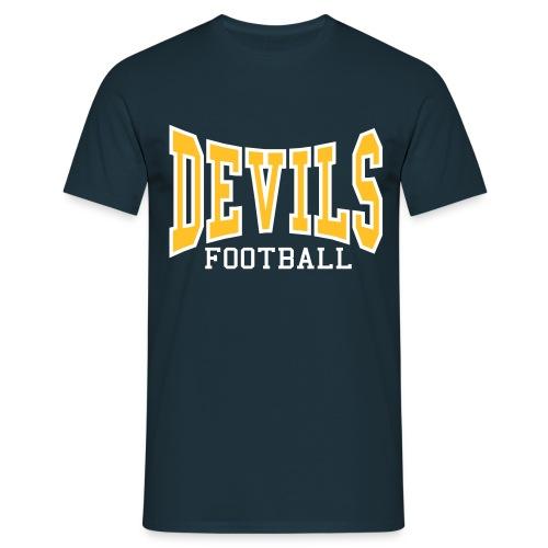Custom Devils Football T-Shirt - Men's T-Shirt