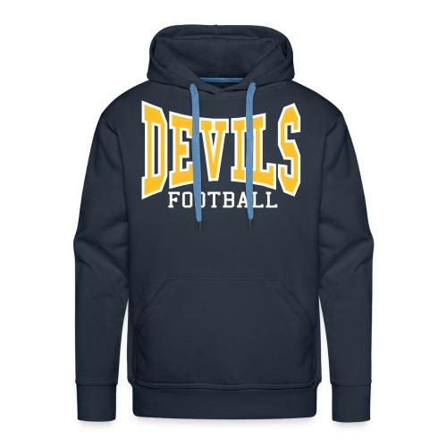 Custom Devils Football Hoodie - Men's Premium Hoodie