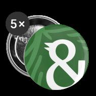 Buttons & badges ~ Buttons/Badges lille, 25 mm ~ 5-pack med badges