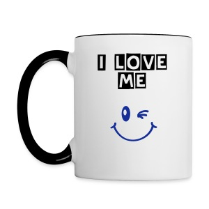 love me cup man - Tasse bicolore