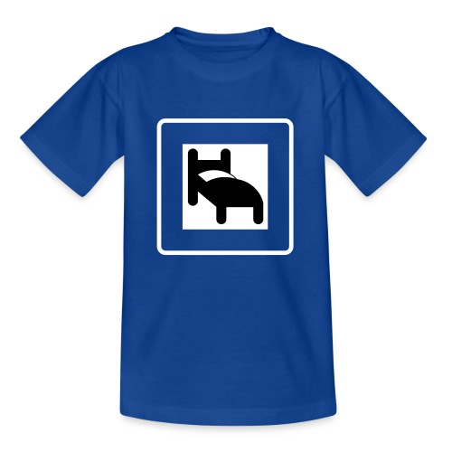 Swedish signs: Hotel or lets go to bed - Teenage T-Shirt