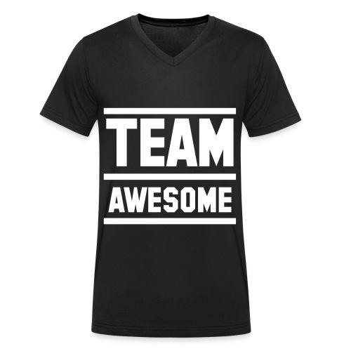 #TEAMAWESOME - Männer Bio-T-Shirt mit V-Ausschnitt von Stanley & Stella