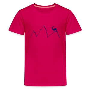 steinbock berge klettern alpen gams ziegenbock bayern - Teenager Premium T-Shirt
