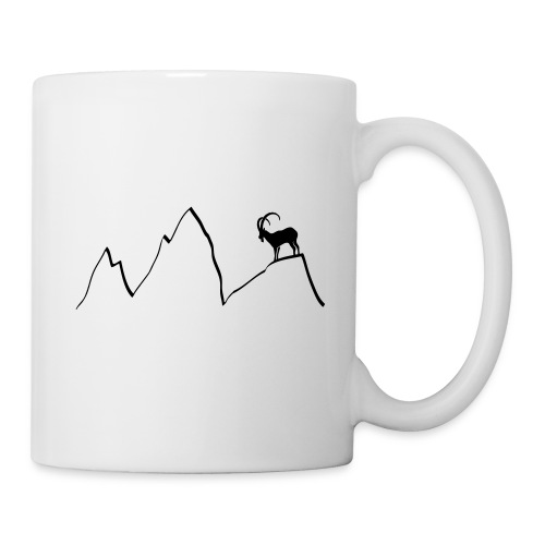 steinbock berge klettern alpen gams ziegenbock bayern - Tasse