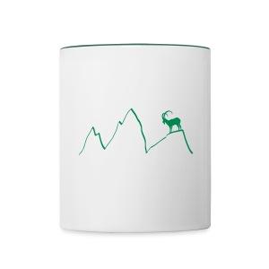 steinbock berge klettern alpen gams ziegenbock bayern - Tasse zweifarbig