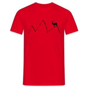 steinbock berge klettern alpen gams ziegenbock bayern - Männer T-Shirt