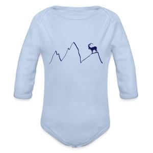 steinbock berge klettern alpen gams ziegenbock bayern - Baby Bio-Langarm-Body
